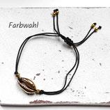 Golden Shell • Armband Makramee | Armschmuck