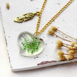 Flower Heart • Kette gold | Halskette Blume | Blütenschmuck | Geschenkidee Frau