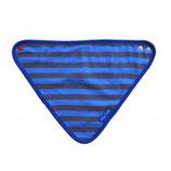 Toby Tiger Dreieckstuch Streifen blau/grau