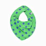 Pippi Spucktuch Sterne grün/blau