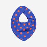 Pippi Spucktuch blau Sterne blau/ orange