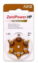 補聴器電池 ゼニパワー PR41(312)