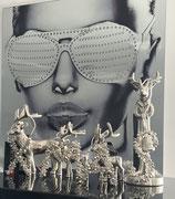 Colmore dekoratives X-Mas Buchstaben Set Perlen und Glocken