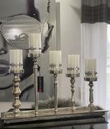 Colmore Kerzentablett 5-Leuchter mit Gewinde verstellbar Alu Raw Ni