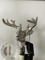 Colmore Sektflaschen /Flaschenverschluss Rentier Hirsch 14x10x21cm Alu Raw Ni