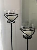 WMG Eisen Windlicht Pedrosa 2 Größen mit Glas