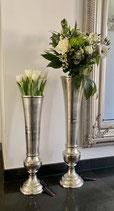 Colmore tolle Vase mit schwarzer Vase innen  Alu/ RAW/Ni  2 Größen