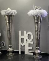 Colmore Vase Alu Raw Ni 33x33x135cm