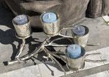 Colmore by Diga Windlicht Ast Alu /Glas 4 Kerzen
