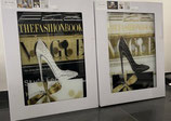 Glasbild Ter Halle Fashion Book Pumps / 60x80cm