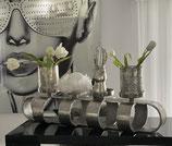 Colmore Kerzenständer/ 4 Windlichter Alu Raw Ni 2 Farben silber oder matt schwarz