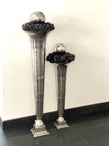 HazenKamp Vase tolles schmales Design Alu Raw Ni 22x22x66cm
