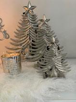 Colmore Weihnachtsbaum Alu Raw Ni 15x7x19cm verschiedene Größen