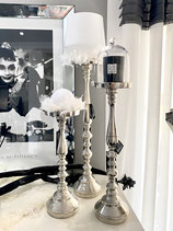 Colmore Kerzenleuchter Kerzenständer Alu Raw Ni  3 Größen verfügbar