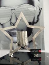 Colmore Windlicht Stern stehend Glas silber 44x10x42