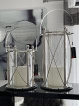 Colmore Windlicht Laterne Silber / SS / Nickel / Mdf 2 Größen