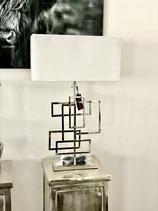 Colmore exklusive Design Lampe Tisch ss/ni inkl. Samt Schirm