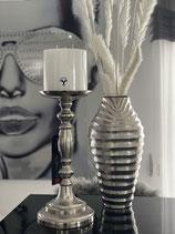 Colmore Kerzenleuchter / Kerzenhalter 2 Größen Alu Raw Ni