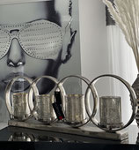 Colmore Kerzenhalter 4 Gläser 85 × 12 × 29 cm Alu Raw Ni