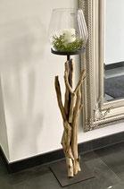 WMG Holz Windlicht Raisa 3 Größen mit Glas