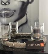 Colmore Perlenkranz  in Silber / oder  Gold  Windlicht 4 Gläser klar