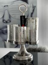 Colmore Windlicht Alu Raw Ni Größe 33 x 29 x 47 // 5 Gläser Silver