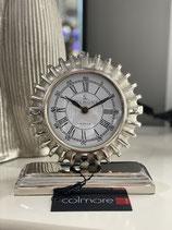 Colmore schicke Uhr geriffelt Tischuhr Alu Raw Ni