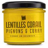 Lentilles corail, pignons & curry
