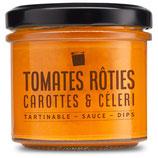 Tomates rôties, carottes et céleri