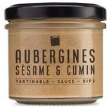 Aubergines, sésame & cumin
