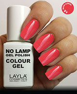 Layla No Lamp Gel Polish 16 rich coral