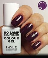 Layla No Lamp Gel Polish 10 purple dance