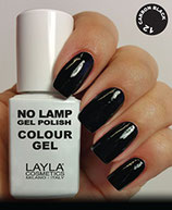 Layla No Lamp Gel Polish 12 carbon black