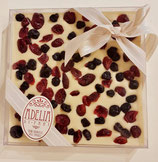Cioccolato bianco con mirtilli