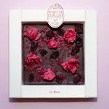 Tavoletta cioccolato fondente con Rose vere