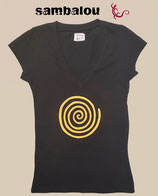 "T-shirt collection femme "" spirale"" black"