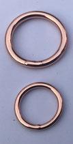 Stahl Ringe Rosegold verschweißt