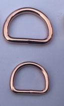 Stahl D-Ringe Rosegold verschweißt