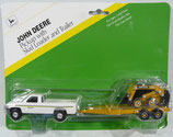 John Deere Dodge Pickup & Implement Trailer with Sid Loader 1:64 Ertl