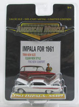 1961 Chevrolet Impala SS 409 White 1/64 American Muscle