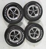 Tire GMP 1969 Nova SS Magnum 500 Mag Wheel and Tire Set 1/18