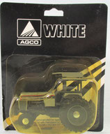 White 195 with Duals Tractor Silver & Black 1/64