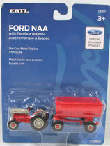 Ford NAA Golden Jubilee Tractor and Flarebox Wagon Ertl 1/64