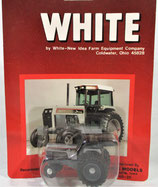 White 195 with Duals Tractor Silver/Gray 1/64