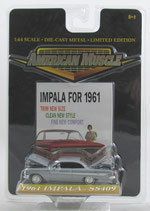 1961 Chevrolet Impala SS 409 Silver 1/64 American Muscle