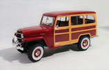 1955 Willys Jeep Station Woody Wagon Burgundy 1/18