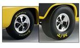 Tire Acme Keystone Drag Wheel and Tire Set 1/18 72 Plymouth Cuda