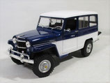 1955 Willys Jeep Station Wagon Blue 1/18