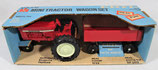 International Farm Set 656 with Wagon Blue Box Ertl 1/32