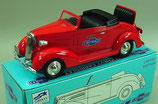 Fire Chief #4 1937 Chevrolet Cabriolet Car Bank